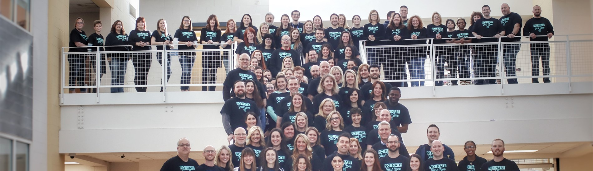 High School Staff wears No Place for Hate T-Shirts to support the movement!